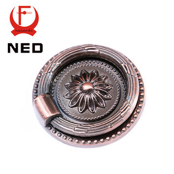 Ned-Rb1013 Big Retro Red Bronze Kitchen Cabinet Knobs Door Cupboard Zinc Alloy Handles Wardrobe Furniture Handle Drawer Pulls