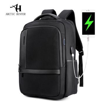 ARCTIC HUNTER Male  Waterproof 15.6inches Laptop Nylon Casual Business Men's Computer Backpack Shockproof Computer Compartment