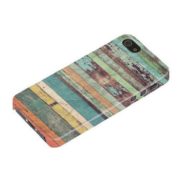 Faded Colored Wood Rad Design For iPhone 5 / 5s!