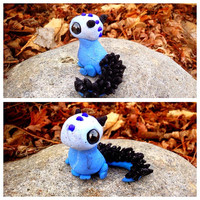 Blue and Black Baby Dragon (Free Shipping To USA)