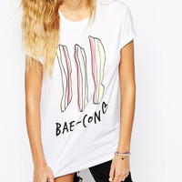 White Bae-con T-shirt