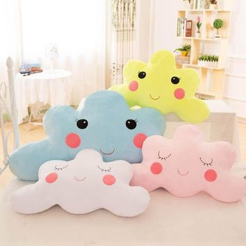 DFH Cloud Pillow Blue White Pink Creative Pillow Soft Breathable Cushions with PP Cotton Fashion Cute High Quality Home Decor
