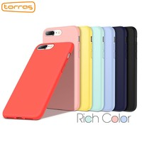 Torras Original Silicone Case for iPhone 8 Plus 7 Plus Fashion Phone Case Protective Microfiber Phone Cover Case for iPhone 8 7