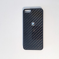 BMW carbon fiber logo custom iPhone cases