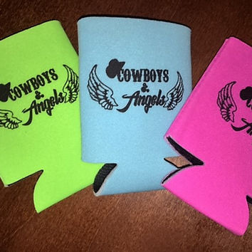 Cowboys & Angels Koozies (MULTIPLE COLORS AVAILABLE)