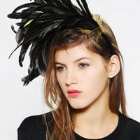 Katie Burley Millinery Midnight Flight Feather Headband