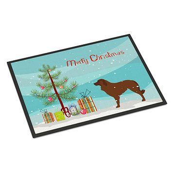 Portuguese Sheepdog Dog Christmas Indoor or Outdoor Mat 24x36 BB2949JMAT