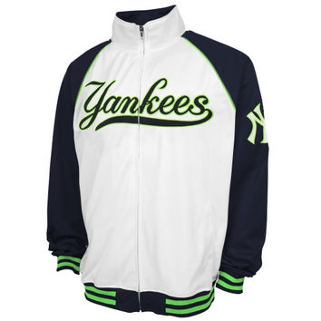 New York Yankees Majestic Big & Tall Track Jacket - White