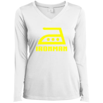 Ironman Funny T-Shirt LST353LS Sport-Tek Ladies' LS Performance V-Neck T-Shirt