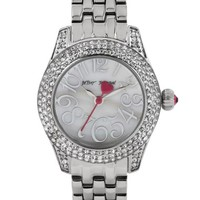 Women's Betsey Johnson Crystal Bezel Bracelet Watch, 30mm