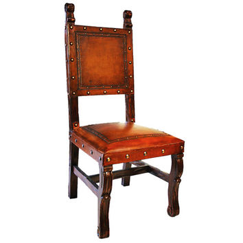 New World Trading SHC12 Spanish Heritage Rustic Chair with Nailheads
