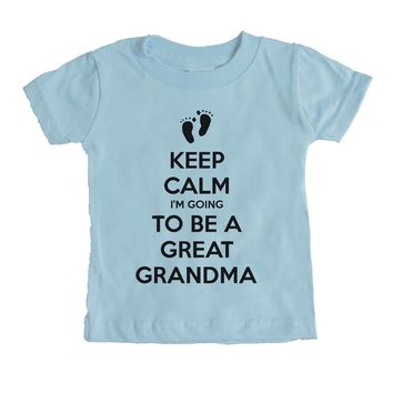 Keep Calm I'm Going To Be A Great Grandma Baby Tee