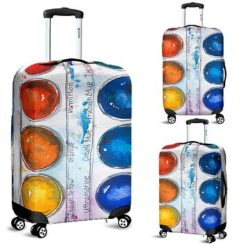 Painters Palette Luggage Cover