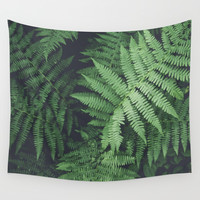 Fern Bush Nature Photography | Botanical | Plants Wall Tapestry by Wildhood