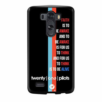 Twenty One Pilots Car Radio Lyrics LG G3 Case
