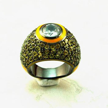 MCL Stardust Pave Yellow Sapphire Ring, Ice
