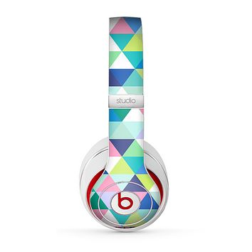 The Vibrant Fun Colored Triangular Pattern Skin for the Beats by Dre Studio (2013+ Version) Headphones.png