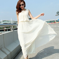 Korean version of the bohemian fashion chiffon dress