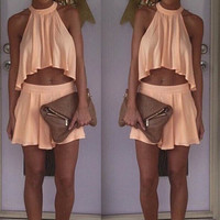 Women Sexy Beach Irregular Skirt