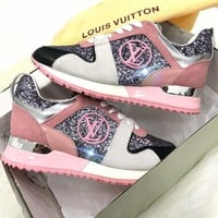 Louis Vuitton LV fashion Sequins lie fallow men and women Gym shoes