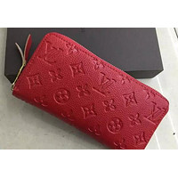 LOUIS VUITTON WOMEN LEATHER EMBOSSING WALLET NO BOX