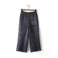 Summer Women's Fashion With Pocket High Rise Stretch Pants [4920633092]