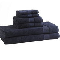 bamboo bath towels | deep-blue