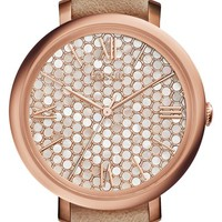 Fossil 'Jacqueline' Leather Strap Watch, 36mm | Nordstrom