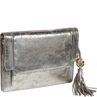 Vince Camuto Vince Clutch Foiled Cracked Leather - eBags.com