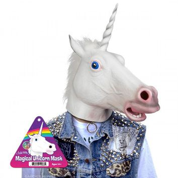 White Unicorn Mask