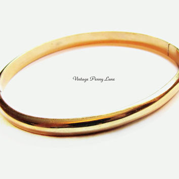 14K Gold Bracelet, Yellow Gold Bangle