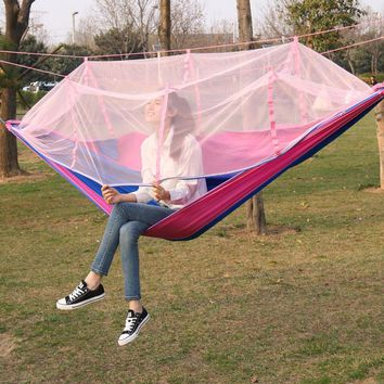 Hammock Furniture Swing Hammock tent Hanging chair Garden swing Double hammock Portable mosquito net hammock Polyester fiber