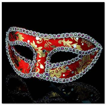 DKF4S 10pcs/lot Unisex Halloween Party Mask With Eyeline Fox Half Face Masquerade Girls Masks For Female Dancing Wear Cosplay