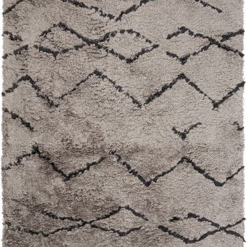 Scout Shag Area Rug Brown, Black