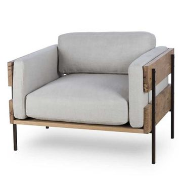 Thomas Bina Carson II Chair - Marbella Oatmeal | New Furniture | What's New! | Candelabra, Inc.