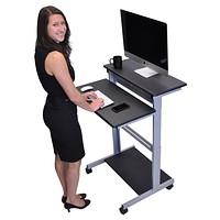 Mobile 31.5-inch Stand Up Computer Desk in Black
