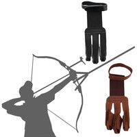 Archery Protect Glove 3 Fingers Pull Bow arrow Leather Shooting Gloves Promotion