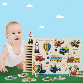 30cm wooden puzzle kid early educational toy baby hand grasp toy alphabet and digit learning education child wood jigsaw toy