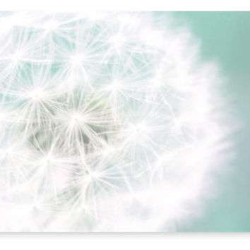 Large Dandelion Wall Canvas Art, Nursery Decor, Bedroom, Living Room, Dreamy Photography
