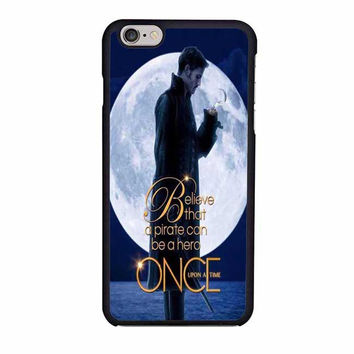 once upon a time captain hook believe iphone 6 6s 4 4s 5 5s 6 plus cases
