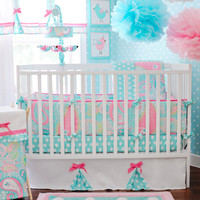 My Baby Sam Pixie Baby Bedding in Aqua