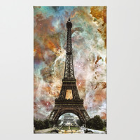 The Eiffel Tower - Paris France Art By Sharon Cummings Rug by Sharon Cummings