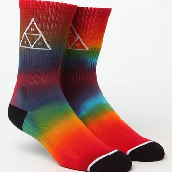 HUF Tie-Dye Triple Triangle Crew Socks at PacSun.com