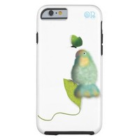 Lovebird with butterfly iphone6 case by OR Designs