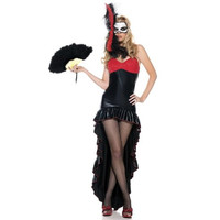 Be Wicked Womens Mysterious Dancer Halloween Party Burlesque Costume