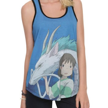 Studio Ghibli Her Universe Spirited Away Haku Chihiro Girls Tank Top