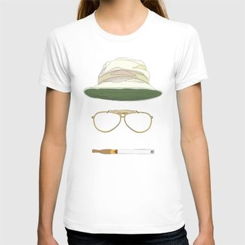 Movie Icons: Fear and Loathing in Las Vegas T-shirt by Raquel Sanchis