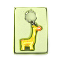 Safari Keychain Favors, 4-inch, Baby Giraffe, Yellow