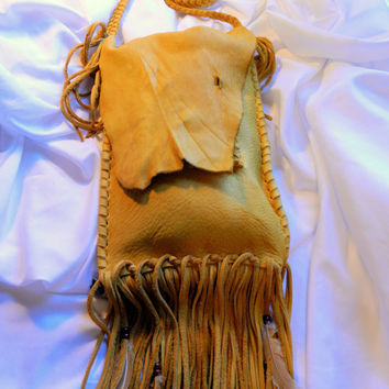 Rustic Leather Messenger Bag by LeatherCrafted on Etsy