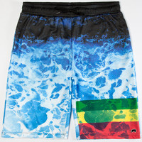 Trukfit Abyss Mens Mesh Shorts Black  In Sizes